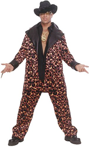 70s Fancy Dress Costumes Ideas (Big Daddy Inferno Adult Costume - X-Large)