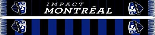 fan products of MLS Montreal Impact Half Bar Scarf, One Size, Blue