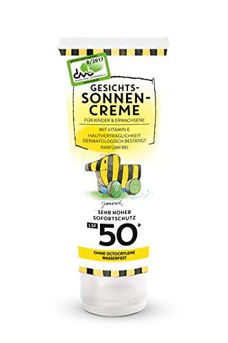 Janosch Gesichtssonnencreme für Kinder und Erwachsene (1x75ml) Lichtschutzfaktor 50+ mit Vitamine E Hautverträglichkeit Dermatologisch Bestätigt Parfümfrei