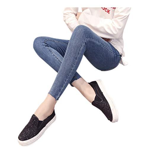 Incinta Vita Elastico Stile Jeans Donna Deylaying Pantaloni In Maternity 15 Con w7aWI1q