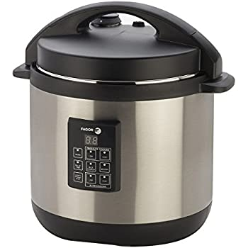 Fagor 3-in-1 6-Quart Multi-Use Pressure Cooker, Slow Cooker and Rice Cooker, Stainless-Steel - 670040230