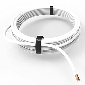 10m negro Auprotec/® Cable unipolar 0.75 mm/² FLRY-B Hilo el/éctrico en anillo