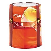TDK - DVD-R Discs, 4.7GB, 16x, Spindle, 100/Pack 48520 (DMi PK