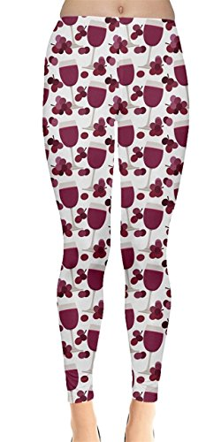 CowCow Womens Wine Glasses Beer Cocktail Alcohol Spirits Whisky Drinks Celebration Party Leggings, XS-5XL