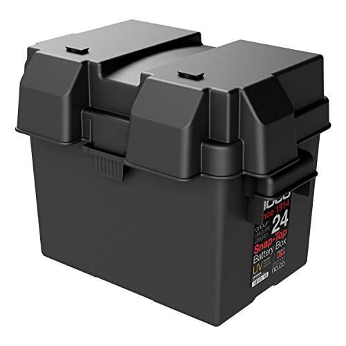 NOCO Black HM300BKS Group 24 Snap-Top Box for Automotive, Marine, and RV Batteries