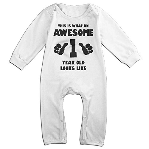 Infant Baby's Birthday Boy 1 Year Old Long Sleeve Climb Romper 24 Months (Max Hall Costume)