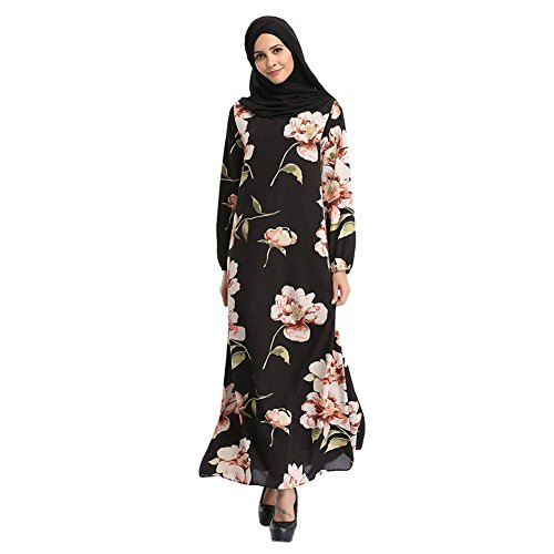 Meijunter-Bohemia-Style-Flowers-Maxi-Dress-Islamic-Muslim-Cocktail-Dubai-Robe