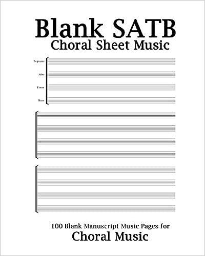 Amazon com: Blank SATB Choral Sheet Music: Choral Music