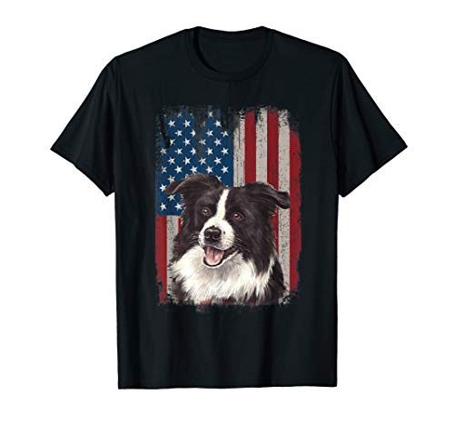 (Border Collie American Flag Patriotic 4th Of July)