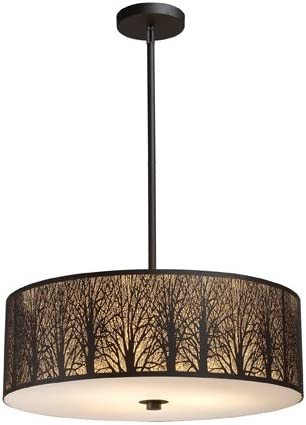 Elk 31075 5 Woodland Sunrise 5-Light Pendant In Aged Bronze