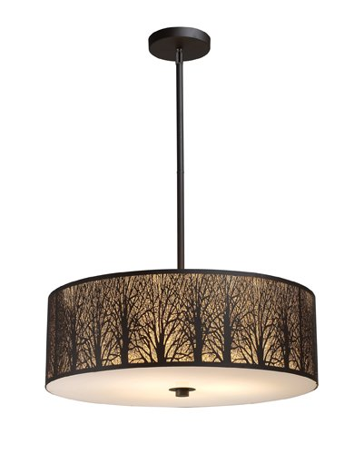 Elk 31075/5 Woodland Sunrise 5-Light Pendant In Aged Bronze
