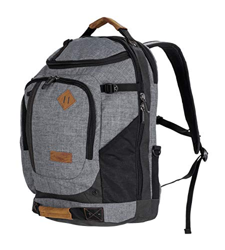 All of Us Legacy Laptop Backpack for Work, School, and Outdoor Travels (Heather Grey) - Legacy Notebook Backpack