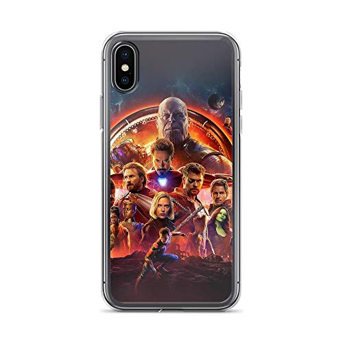 Price comparison product image iPhone X / XS Pure Clear Case Cases Cover Avengerss Superheros Shield Thanos Captains of America Man of Iron Spider Man Black Widow Guardians of Galaxy Black Panther