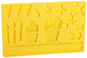 Wilton Fondant and Gum Paste Silicone Mold, Kids Party