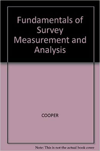 Book Fundamentals of Survey Measurement and Analysis