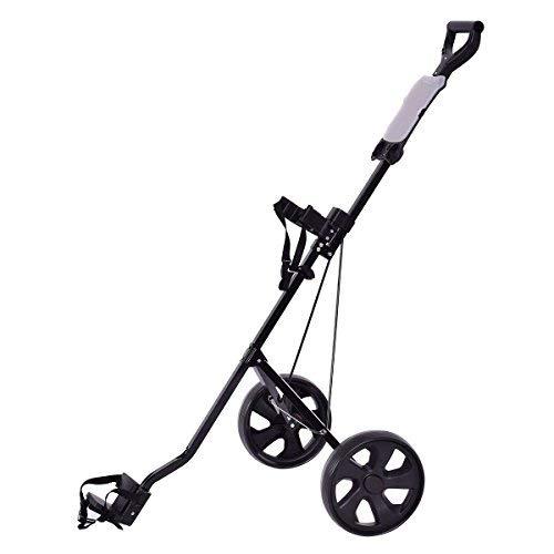 Tangkula Golf Cart Foldable 2 Wheel Push Pull Cart Trolley (Large
