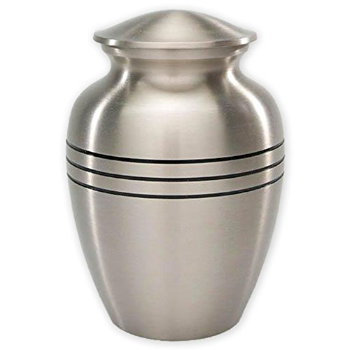 Beautiful Life Urns Dignity Pewter Extra Small Cremation ()