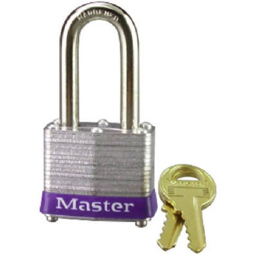 Master Lock Key - Master Lock Padlock, Laminated Steel Lock, 1-9/16 in. Wide, 3DLH
