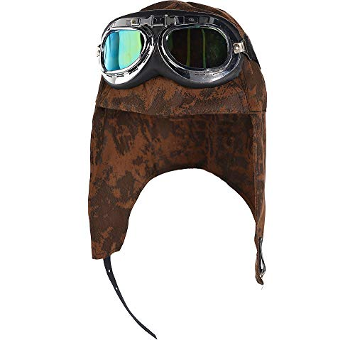 AMSCAN Aviator Hat and Goggles Halloween Costume Accessories for Adults, One Size ()