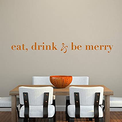 Amazon.com: Kitchen Vinyl Wall Decal Dinning Room Wall Quote Wall ...