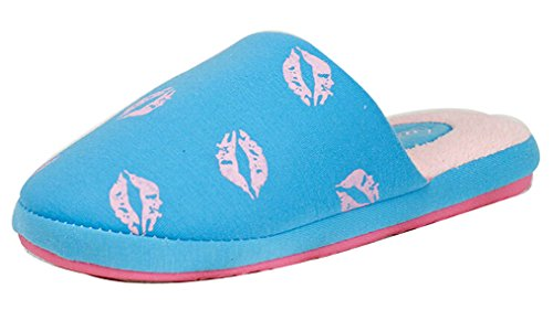 Ciabatte Da Camera Calde Pantofole Donna Blubi Blu