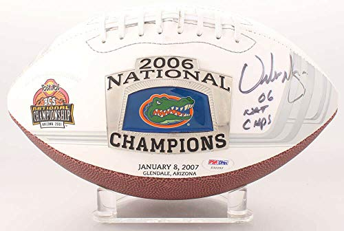 Urban Meyer Autographed Signed Memorabilia Florida Gators 2006 National Champions Logo Football / - PSA/DNA Authentic