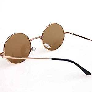 Egal Round Retro Sunglasses Polarized Glasses Men Steampunk