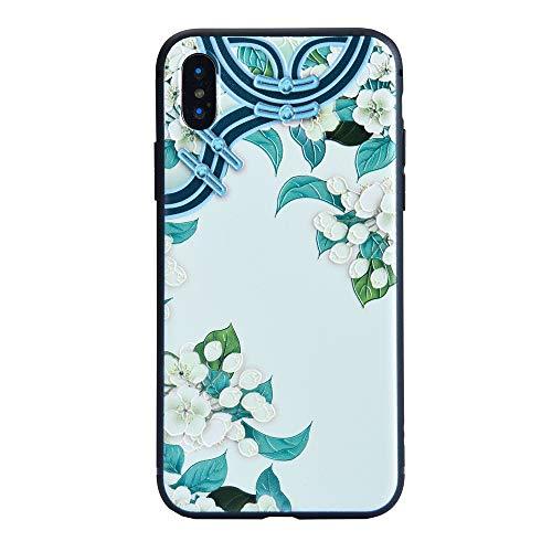 (2019 NEW) Apple iPhone XR, 3D Creative Scrub Slim Clear Soft Flexible TPU Cover, Anti-Scratch Chinese style (A)