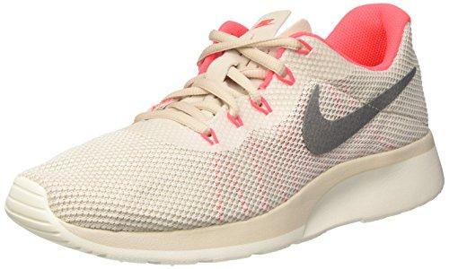 Nike Women's Tanjun Racer Running Shoe LT Orewood Brn/Chrom-Sail-Solar Red 10 by NIKE