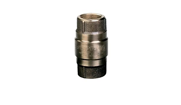 Strataflo 1//4 NPT Check Valve Stainless Steel 1 psi Cracking Pressure 3395RB-025 Spring-Loaded 3000 psi Inline Check Valve