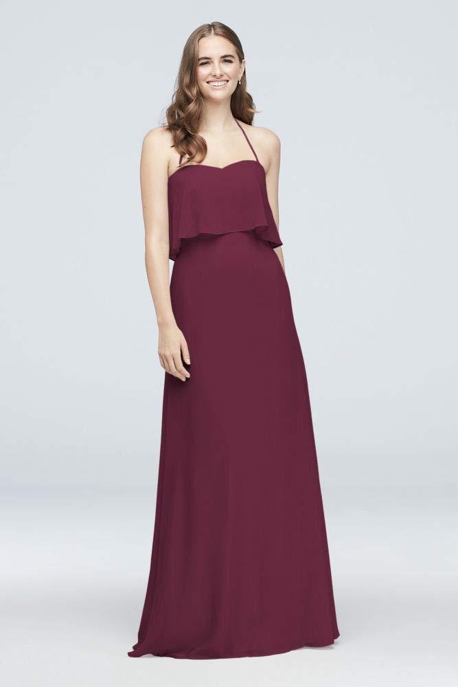 151a01be9bc Davids Bridal Bridesmaid Dress Wine Top Deals   Lowest Price ...