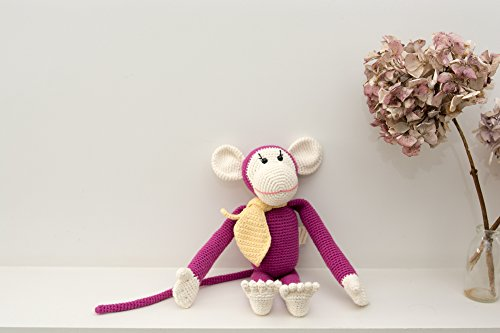 Momo the monkey handmade organic crochet stuffed animal