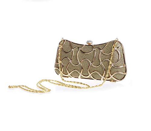 Le Da Banchetto Bag Catena Pochette Wjp Sera Cheongsam Mini centimetro Lladies Diagonale Borsa nero Nero Spalle Sposa Per Anw8qp5