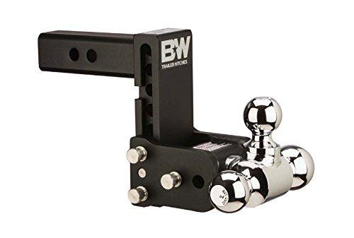 B/&W TS30049B Tow /& Stow Model 10 Tri-Ball Hitch 1 7//8 x 2 x 2 5//16 for 3 Receivers 7.5 Drop 7 Rise