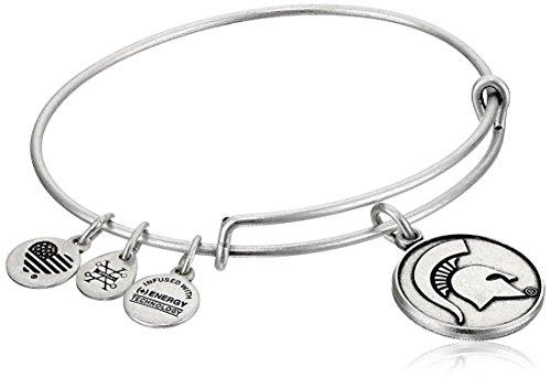 Alex and Ani Michigan State University Rafaelian Silver Bangle Bracelet