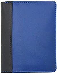 Lucca LC36 Two-Tone Mens Leather Bi-Fold Slim Style Wallet