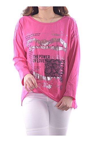 Été Ig009 Confortable Shirts 88702 Filles 3 Manches Automne Casual Langarm Foncé Longues Tops art Plusieurs Couleurs Sexy Femmes Printemps Rose En Plaine Italie Fabriqué Vintage Transition Abbino Elegante OCxqdEq