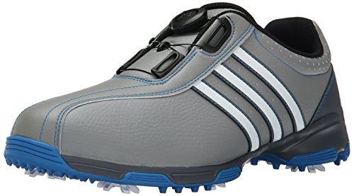 Cleated Shoes (adidas Men's 360 Traxion Boa Golf Cleated, Light Onix/Ftwr White/Shock Blue S16, 11.5 M US)