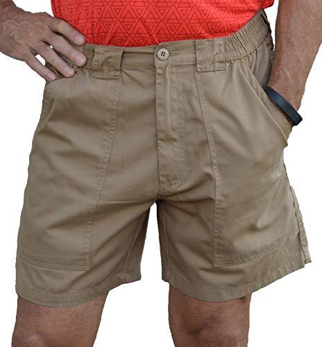Trod Men's Deep Pockets Short Khaki 36 - Mens Deep Pocket
