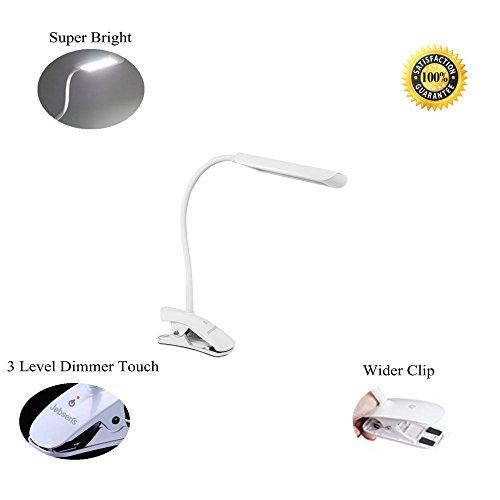 Led Desk Lamp Flexible Neck Rhinoteck Z2 Dimmable Clip On