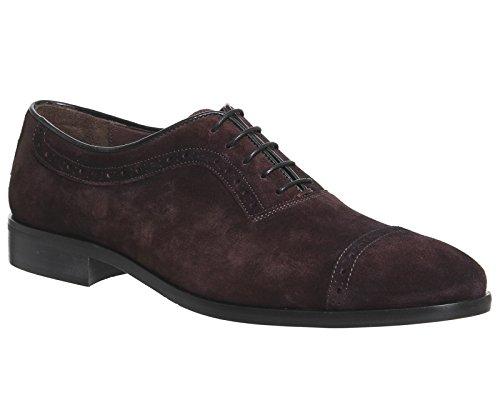 Poste , Herren Sneaker Burgundy Suede
