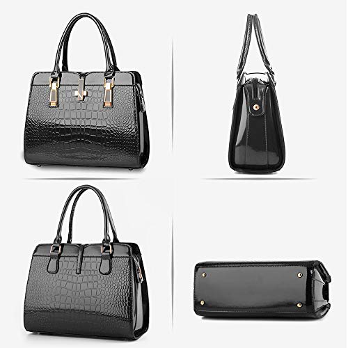 Leather Black Women PU Shoulder Handbags Ladies BestoU Bags Crossbody zq47tOw