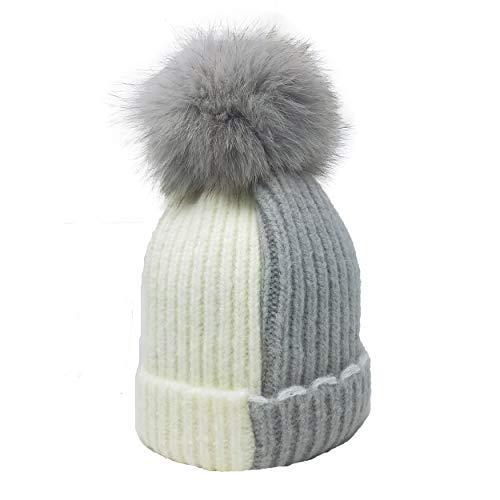 0b67dc5ccec01 xsby Knitted Cozy Warm Winter Snowboarding Ski Hat with Pom Pom Slouchy Hat