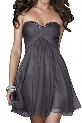 Blau Abendkleider Cocktailkleider Kurz Heimkehrkleider Grau Marie Pailletten Herzausschnitt Braut La Navy qYtz06nR