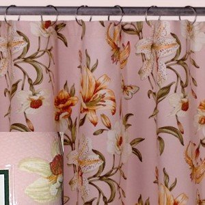 Waverly Tiger Lily Matelasse Fabric Shower Curtain