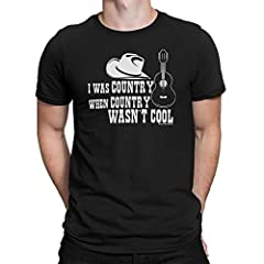 "Brand new Mens Fit TShirt makes a fantastic present for Musicians and Music Lovers.Soft touch fabric and great quality.This unique and funny ""I Was Country When Country Wasn't Cool"" design is brought to you by the Free Will Shirts  Team, care..."