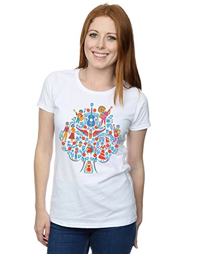 Price comparison product image Disney Women's Coco Tree Pattern T-Shirt Medium White