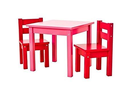 Hoppe Kids Multicolor Lätt Mads: Mesa Rosa, sillas Rojo, 1 mesa, 2 ...