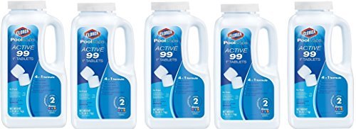 Clorox Pool&Spa Active 99 1-Inch Chlorinating Tablets, 3.75-Pound 22003CLX (5-Pack) by Clorox