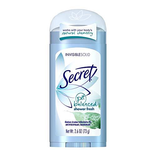 Secret Original Shower Fresh Scent Women's Invisible Solid pH Balanced Antiperspirant & Deodorant 2.6 Oz (Pack of 3)